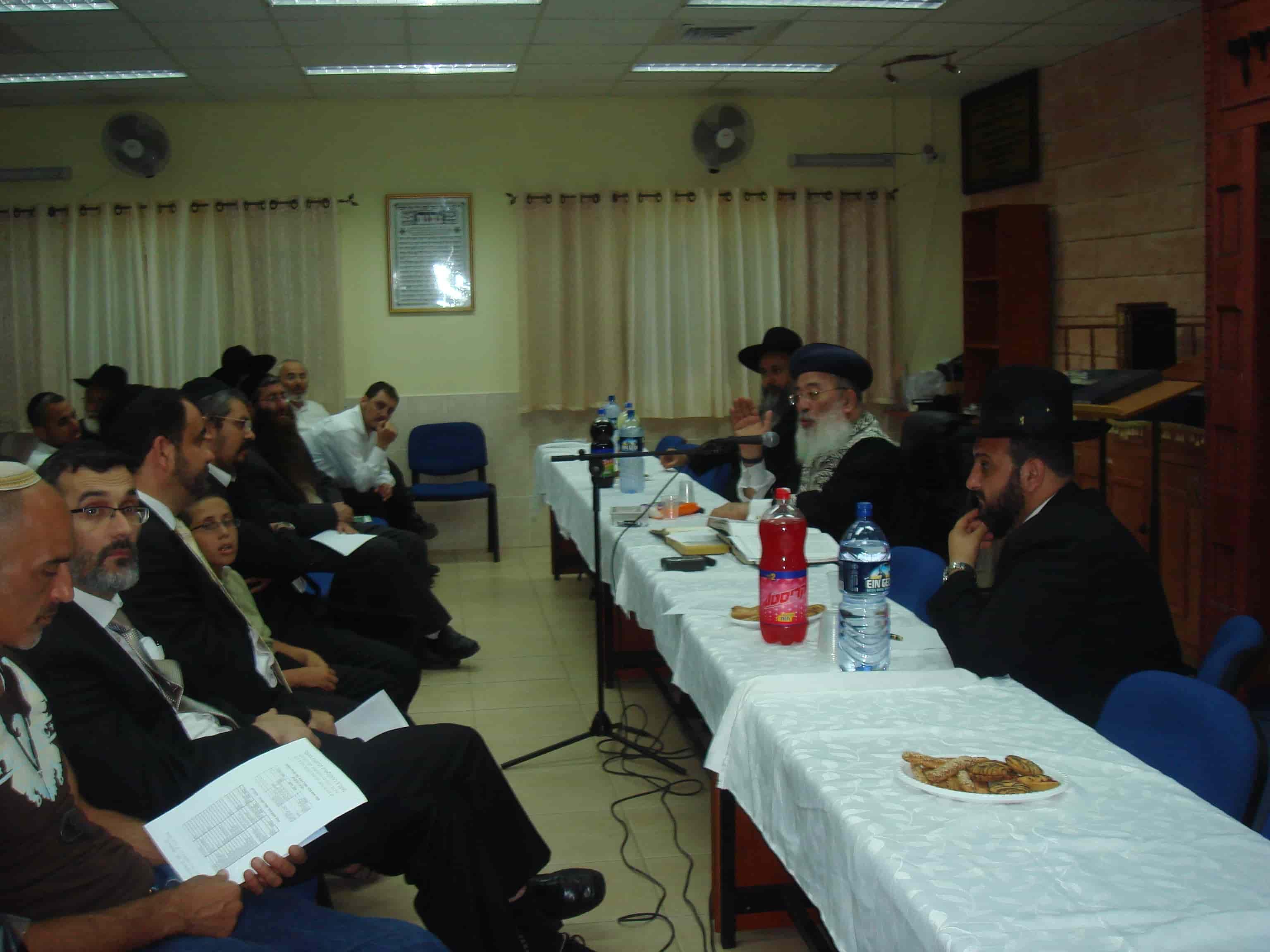 שיעור על שמיטה שנערך מטעם המכון בעיר אלעד-min