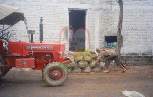 החלפת השקיות עם הקומפוסט בבית גידול לפטריות בצ'נדיגר – הודו